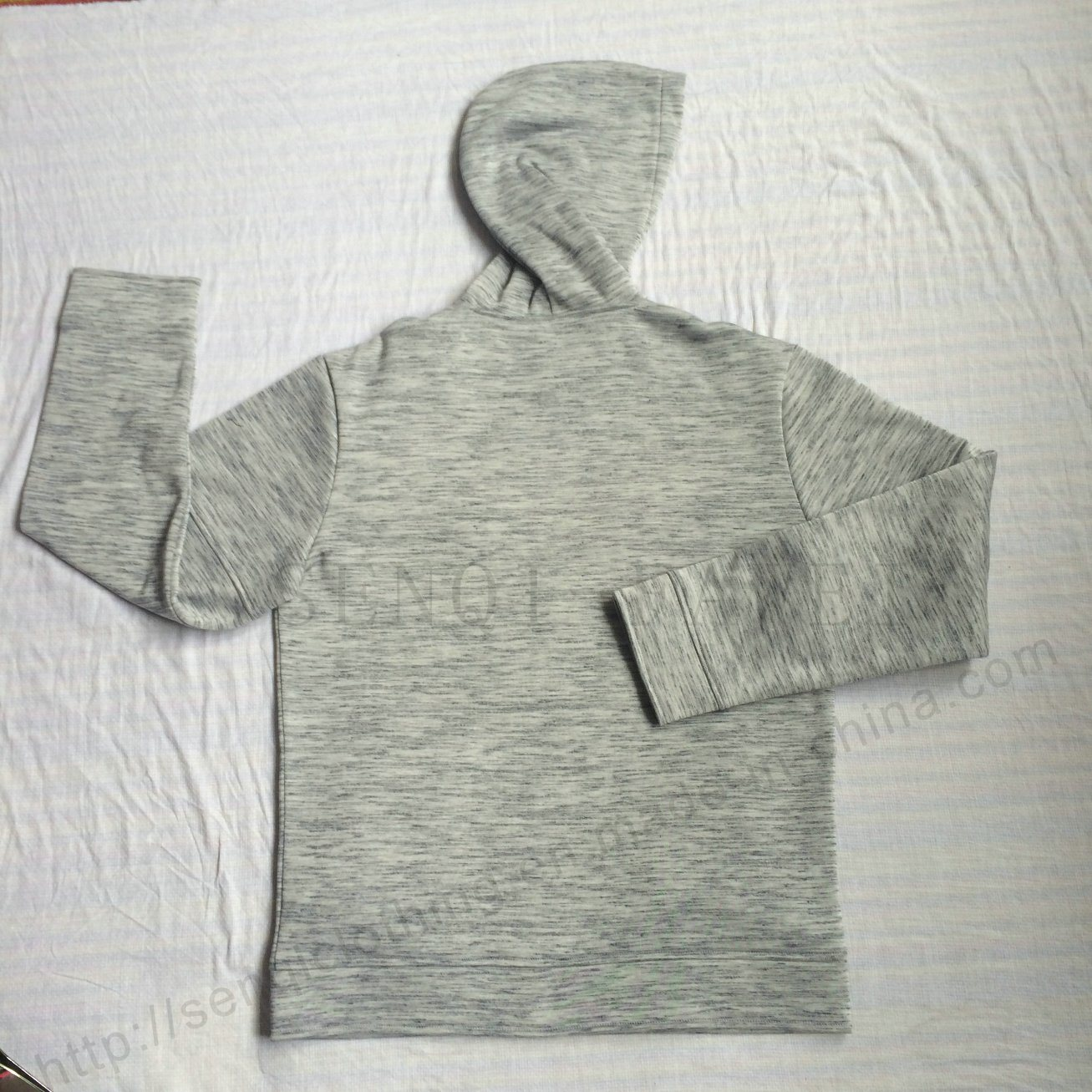 Fashion Man Fleece Zip-up Hoodies with Pocket in Sport Wear Clothes Fw-8663