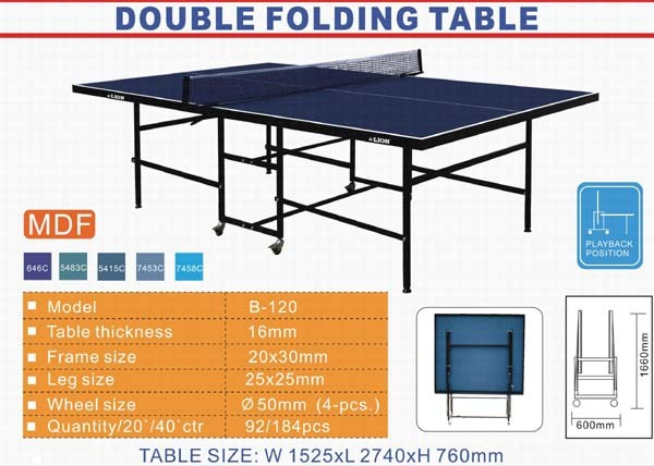 Ping pong table playing dimensions crafts Dimensions d une table de ping pong