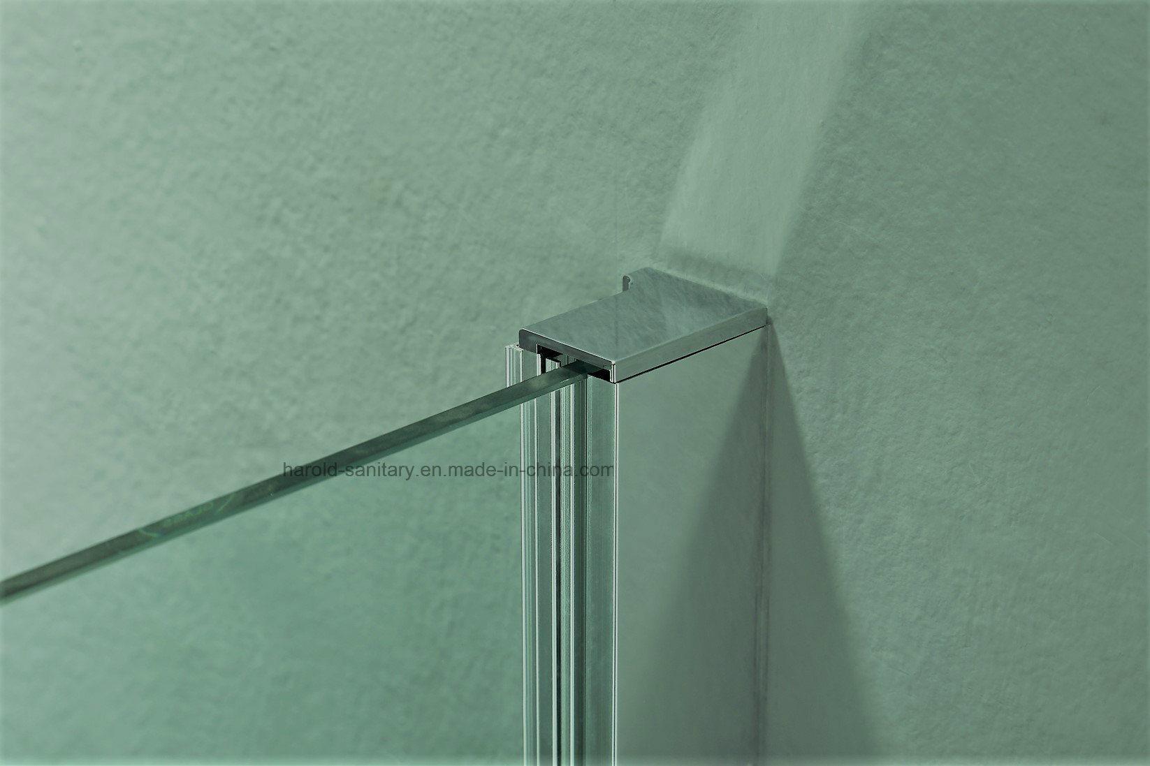 Hr-P051 Square Framed Pivot Hinge Open Shower Enclosure