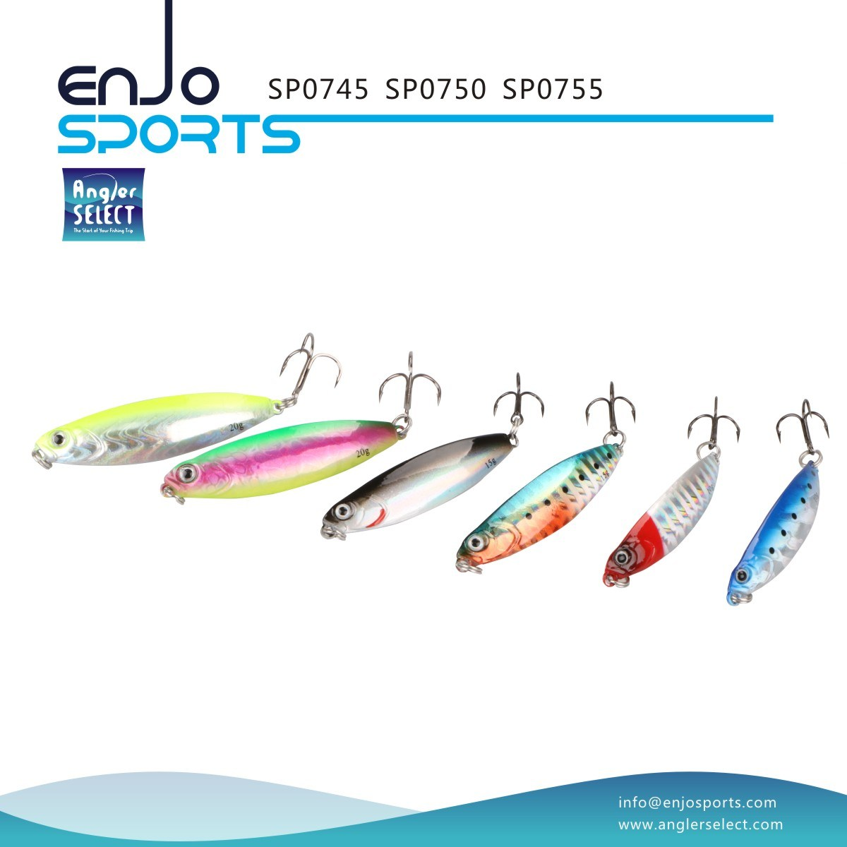 Sp07 Series Holographic Spoon Shape Jigging Lure with Vmc Treble Hook