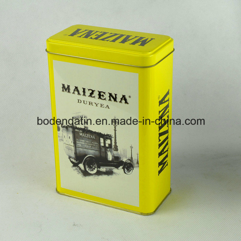 Custom Metal Tin Box for Tea with Rectangular Shape