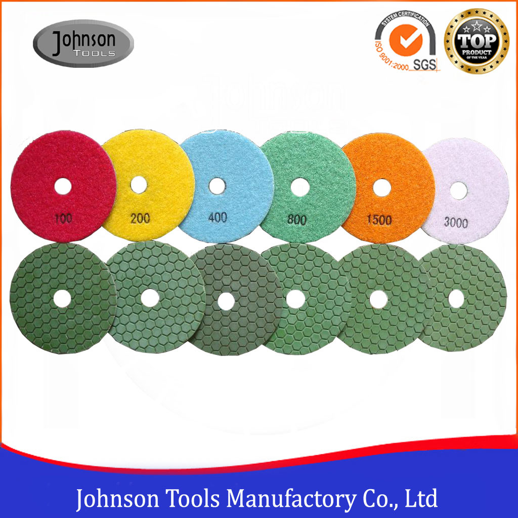 100mm Diamond Dry Polishing Pad for Marble