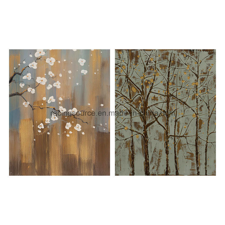 Home Decor Printing Canvas Abstract Tree Hand Oil Canvas Painting