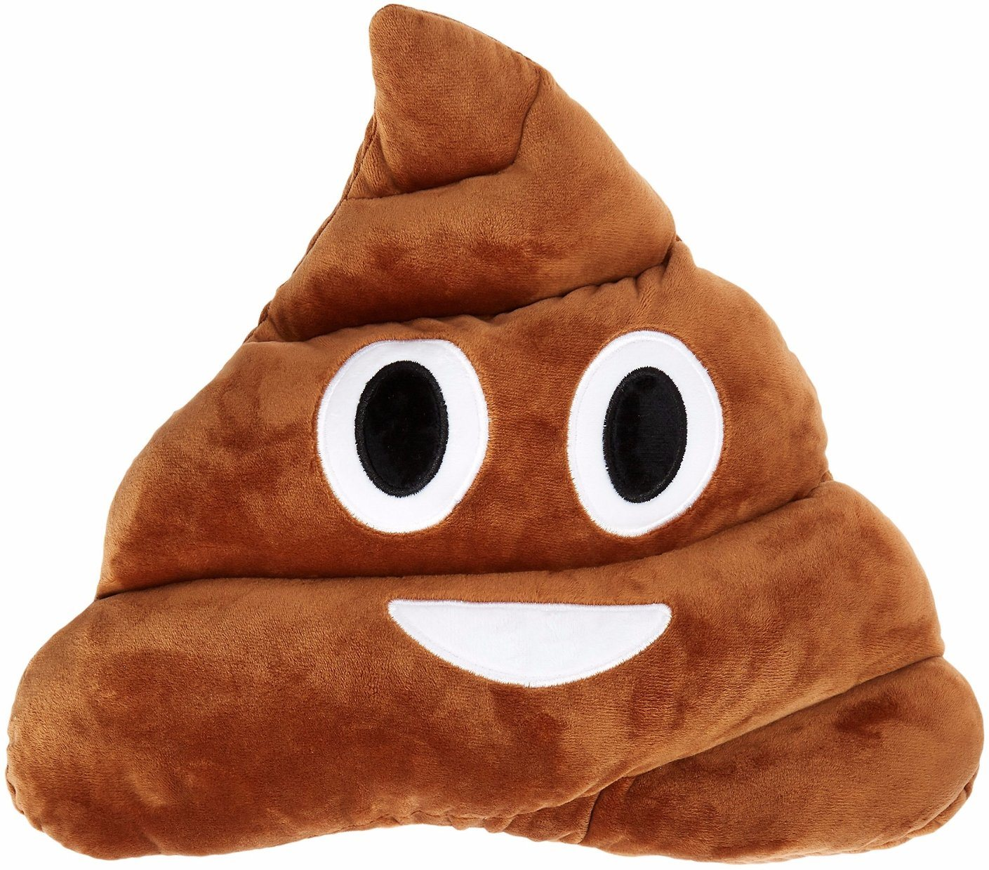 Soft Colorful Polyester Fabric Poop Emoji Pillow
