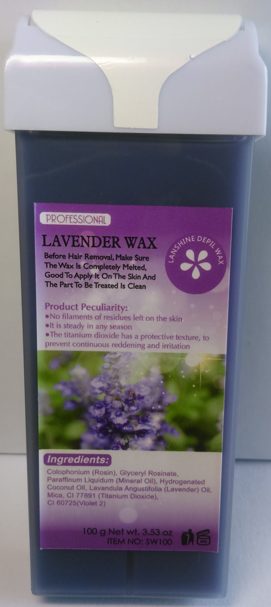 Roll-on Depilatory Wax Lavender Creme Wax