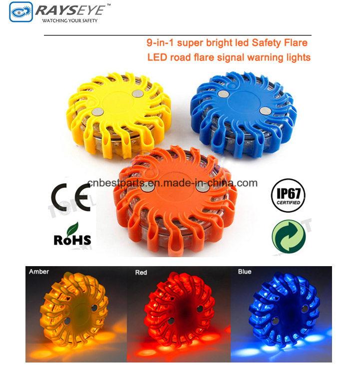 9 in 1 Warning Light Safety Light Road Traffic Light Signal Light