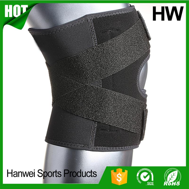 Whosale Adjustable Closed Patella Neoprene Knee Brace (HW-KS030)