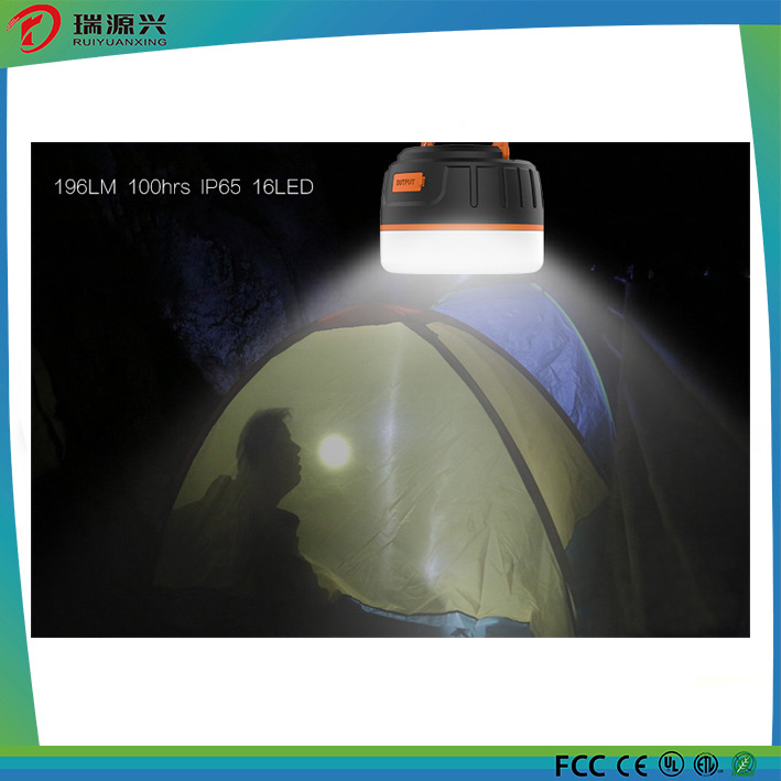 Magnetic Waterproof 5200mAh Power Bank With Camping Lantern