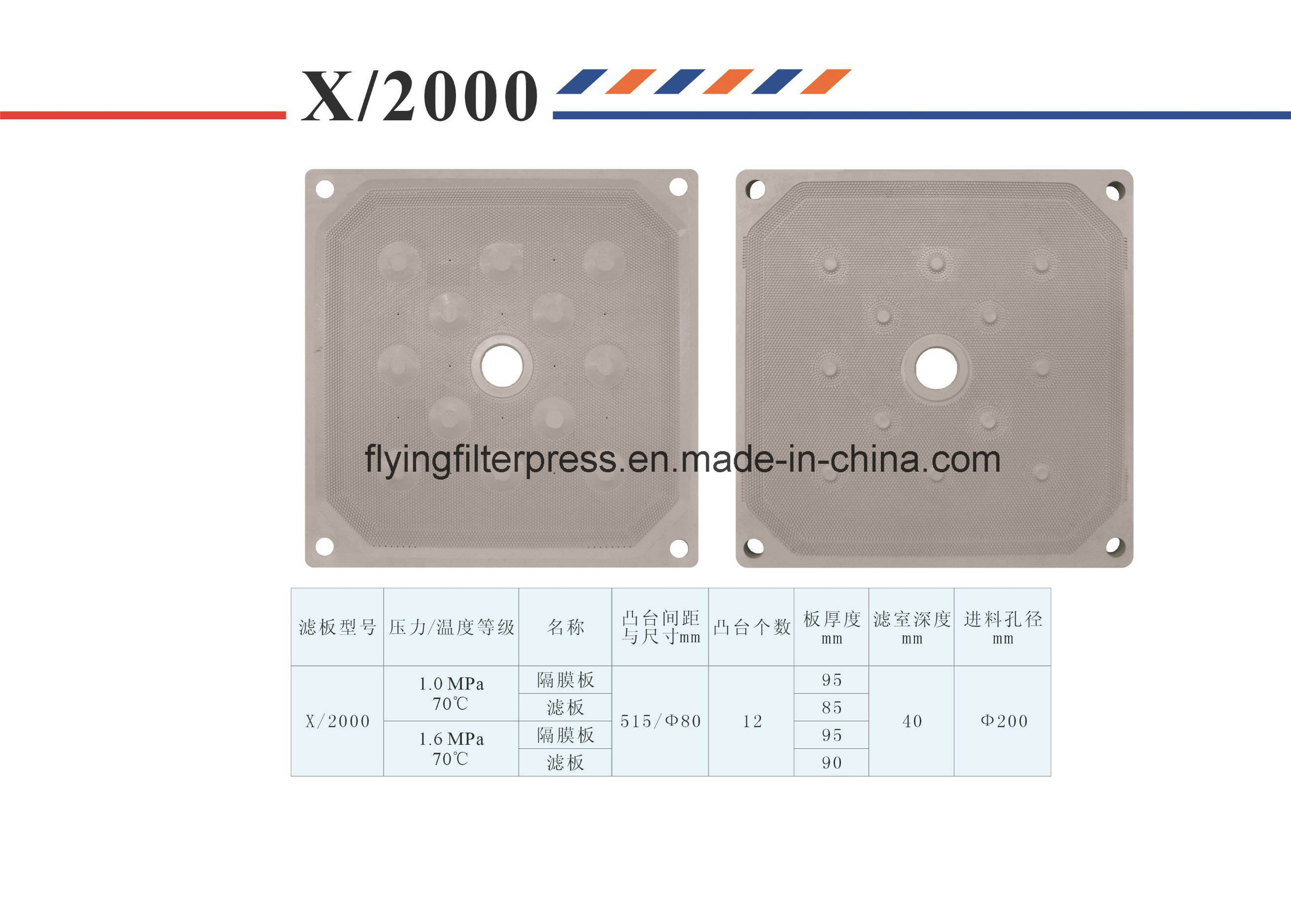 Flying 2000mm Filter Plate