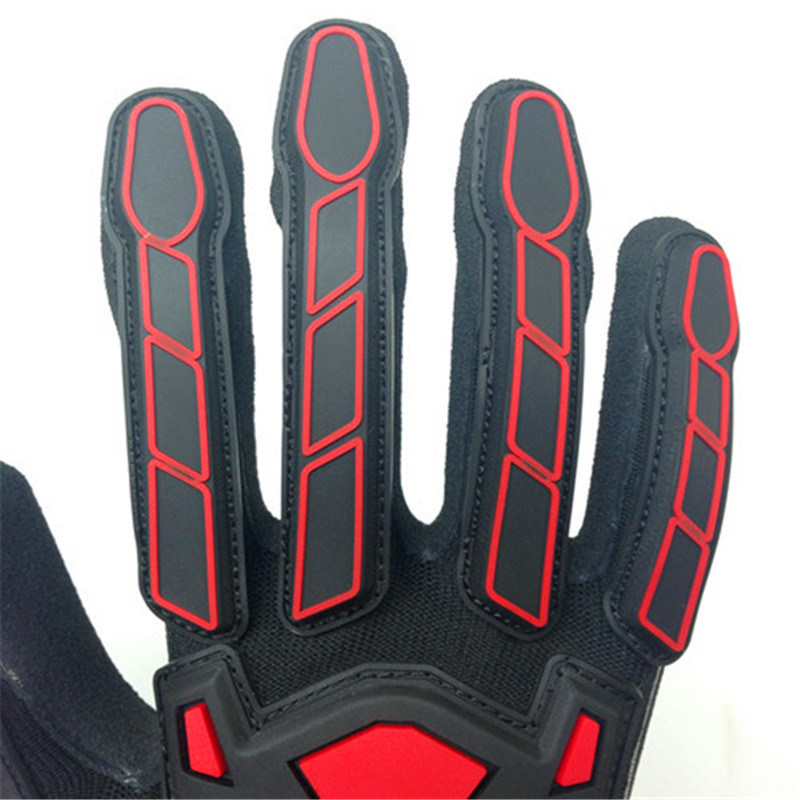 Sandy Nitrile Finished Poly/Lycra Gloves with TPR Sewing