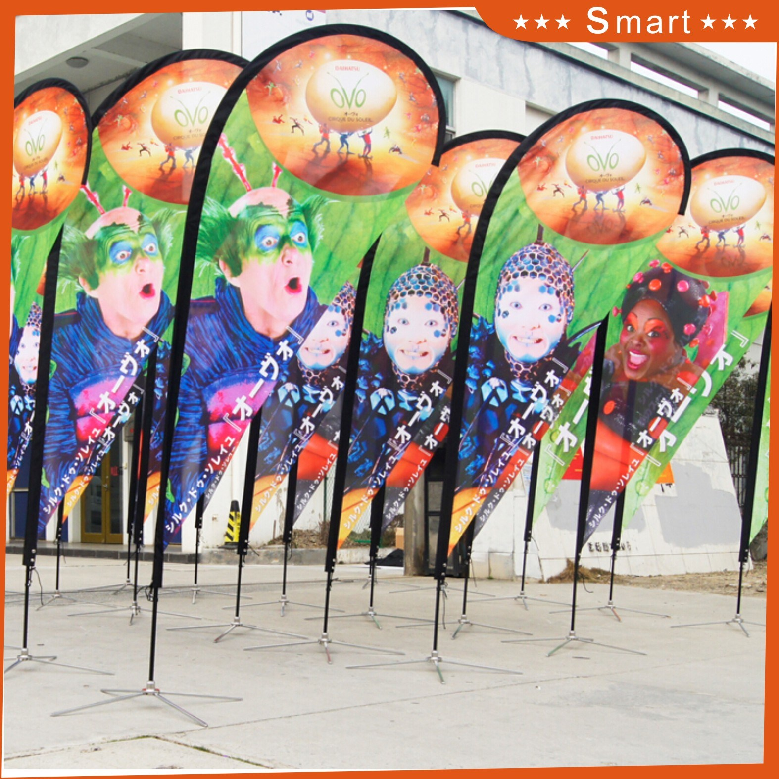 China Manufacturer Custom Outdoor Advertising Teardrop Flag