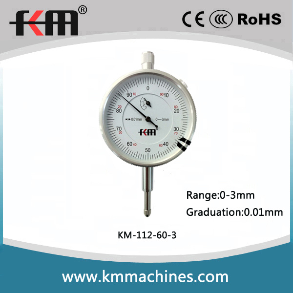 High Quality 0-3mm Dial Indicator with 0.01mm Graduation