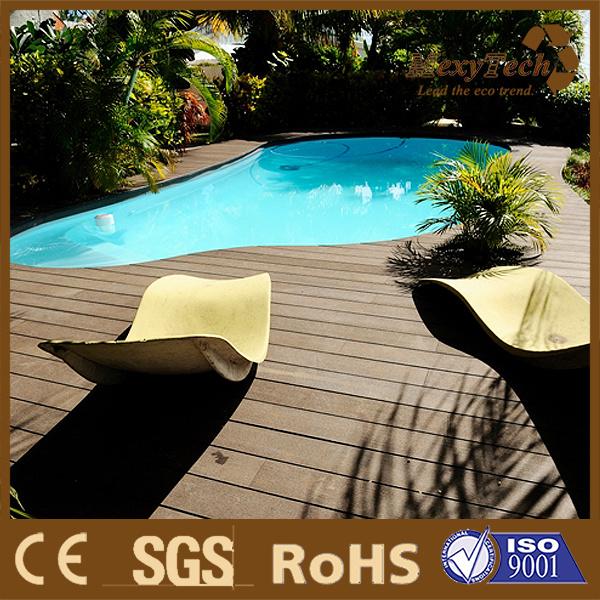 Balcony Patio Swimming Pool Wood Plastic Composite WPC Decking