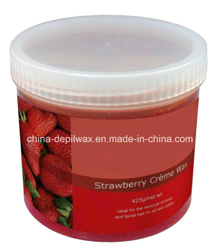 425g Jar Soft Depilatory Wax Lavender Creme Wax for Soothing Waxing