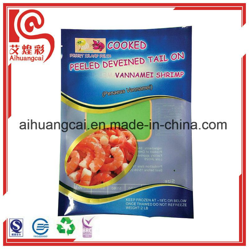 Customized Printed Side Seal Vacuum Plastic Food Bag