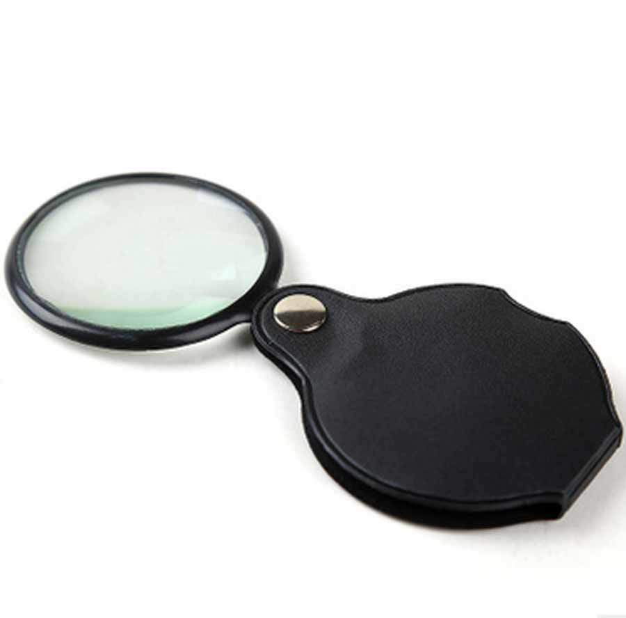 Leather Case Magnifier 6X Gifts Loupe Jewelry Magnifier Optical Magnifier