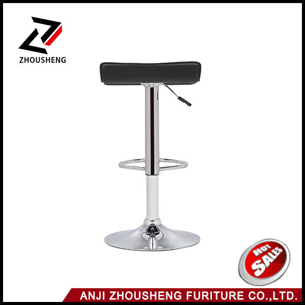 modern Leather Adjustable Bar Stools Hydraulic Swivel Dining Chair