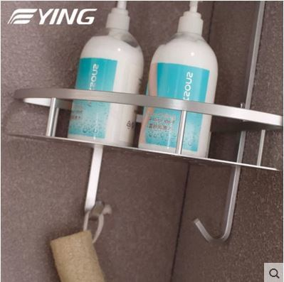 Space Aluminium Series Tirangle Double Shelf Bathroom Shower Shelf