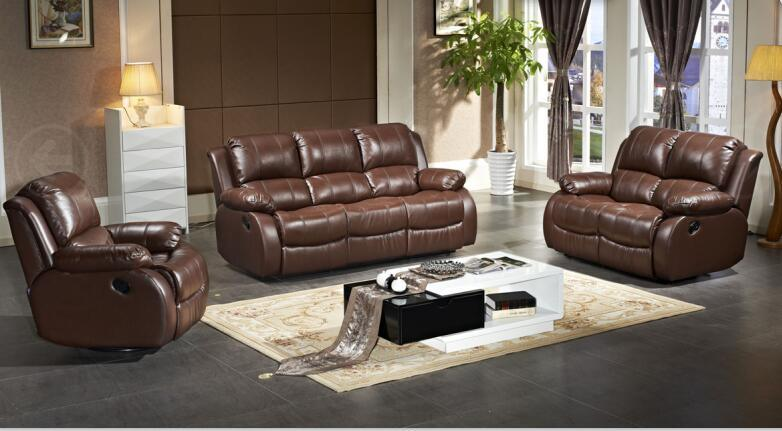 Modern Sofa with Leather Recliner Home Cinema Chair
