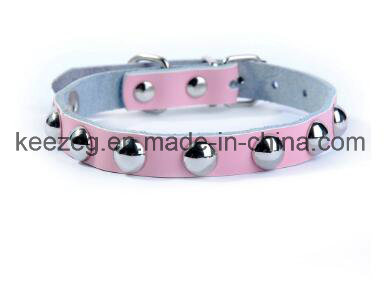 Elegant Real Leather Lovely Pet/Dog Cat Collars /Leash (KC0075)