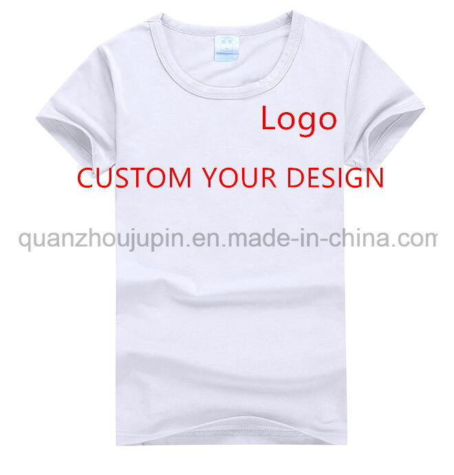 Custom Logo Print Men Women Round Neck Advertising T Shirt