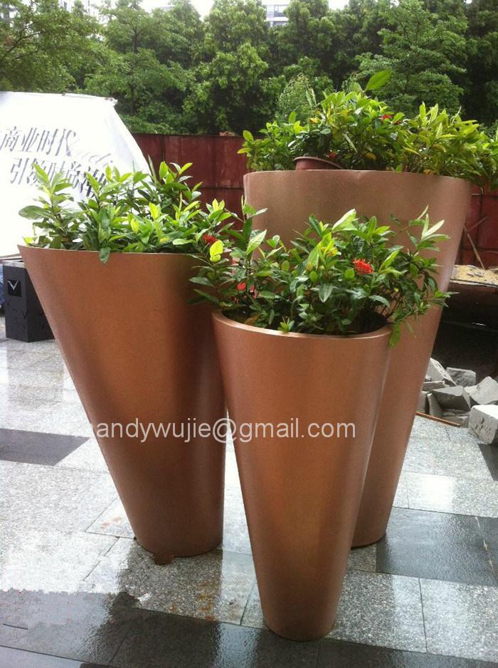 Customized Design Ornamental Stainless Steel Flowerpot