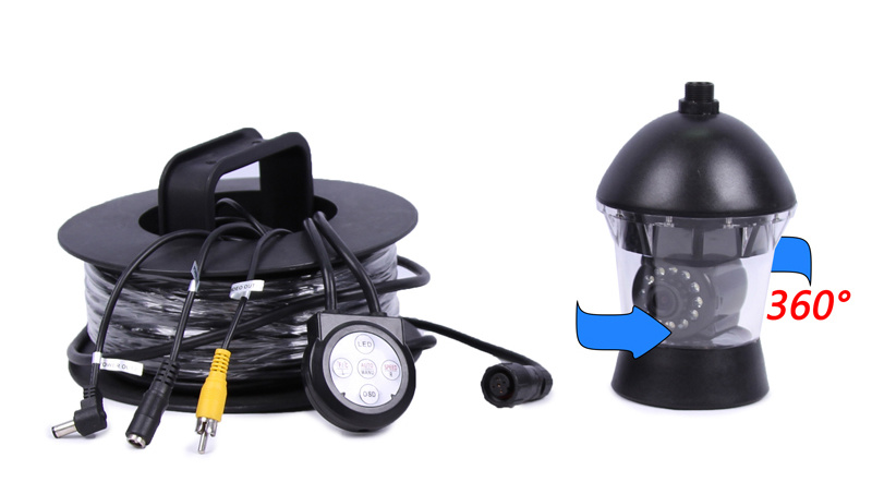 Underwater Camera 360 Degree Rotation Camera CR110-7C with DVR Video Recording with 20m to 300m Cable