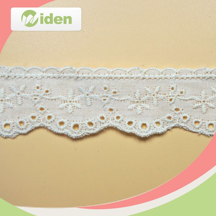 African Lace White Cotton Embroidery Lace Trim