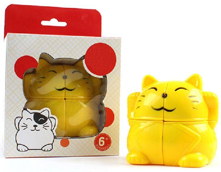 837002-Lucky Cat Cartoon Cube Simple Intelligent Toy Fun Gift