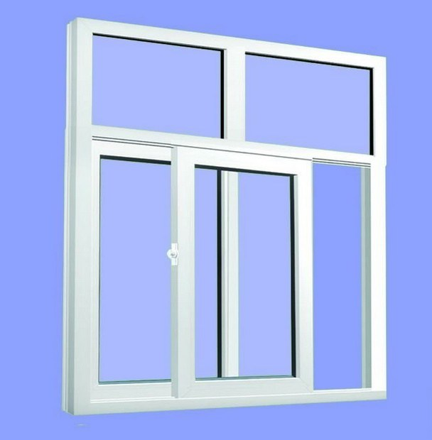 Top Quality Pvcframe Double Toughened Glass Sliding Window