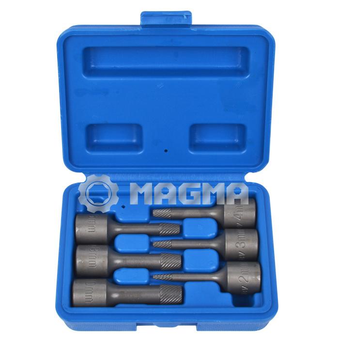 """6 PCS 3/8"""" Special Twist Extractor Socket Set 2-10mm (MG50488)"""
