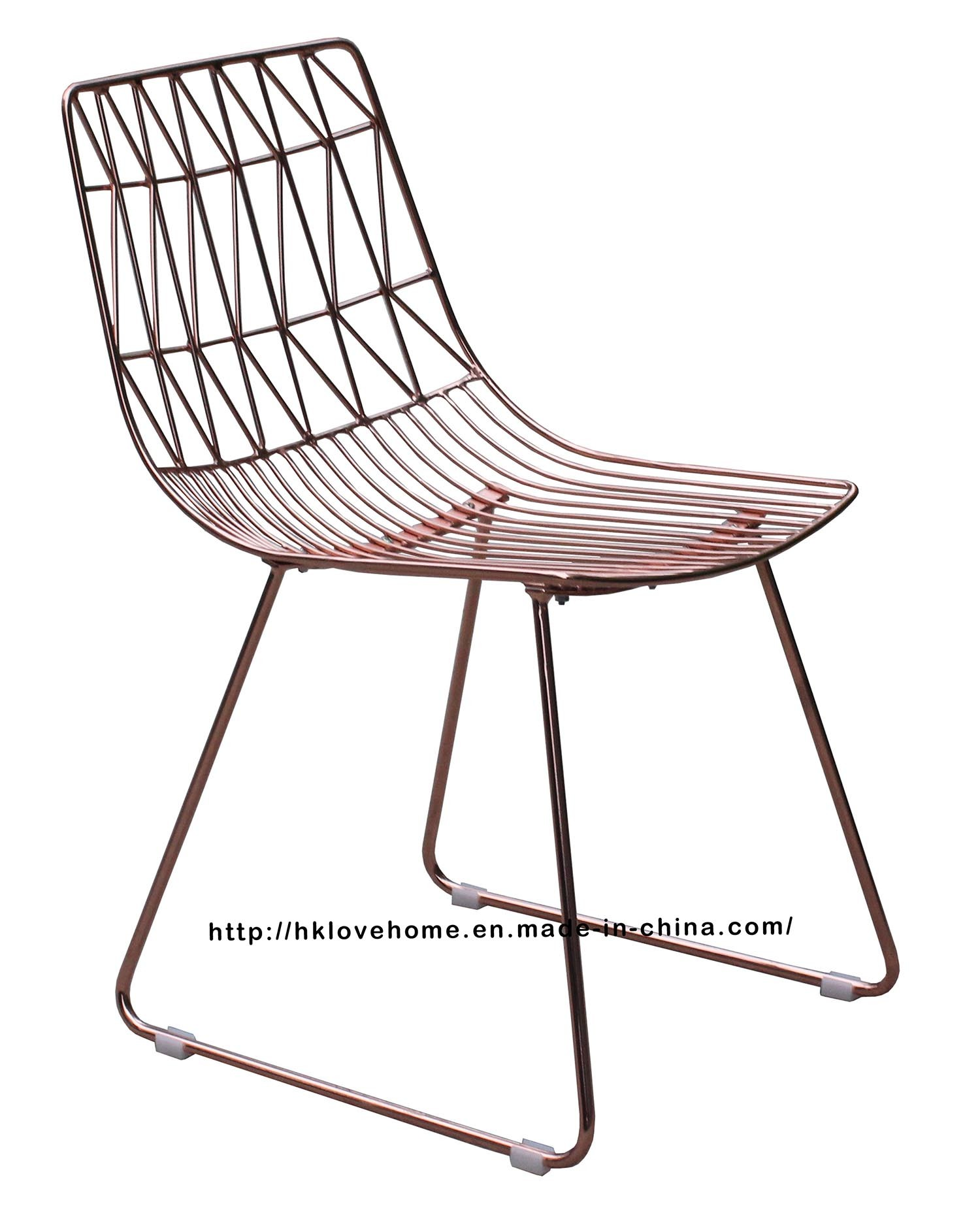 Modern Classic Restaurant Metal Dining Bend Side Wire Chair