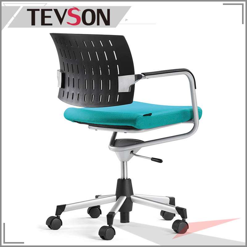 Simple Style Plastic Low Back Staff Chair