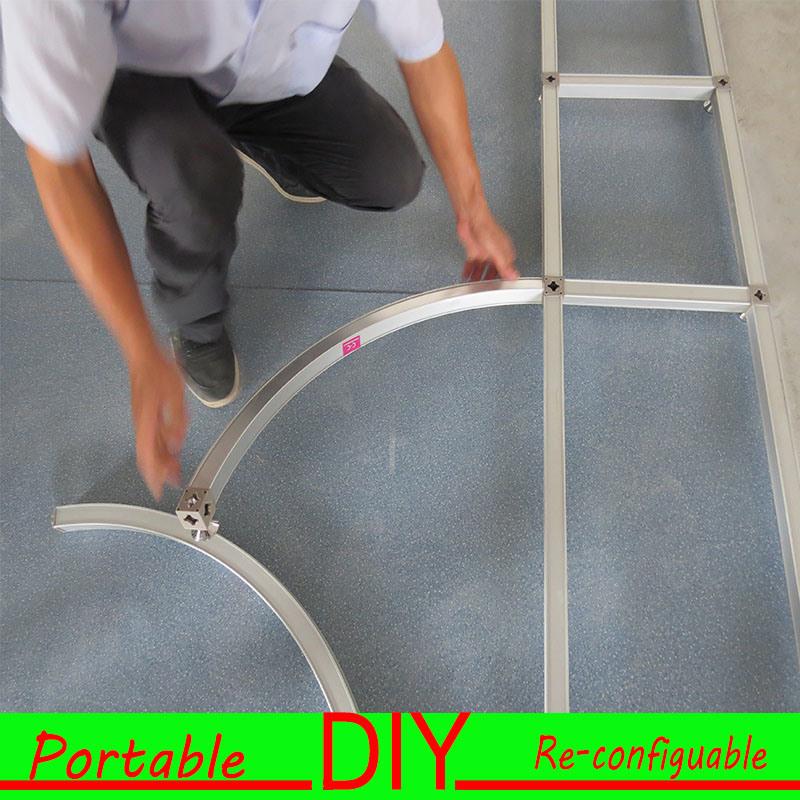 Aluminum Material Printed PVC Portable Modular Curved Trade Show Display