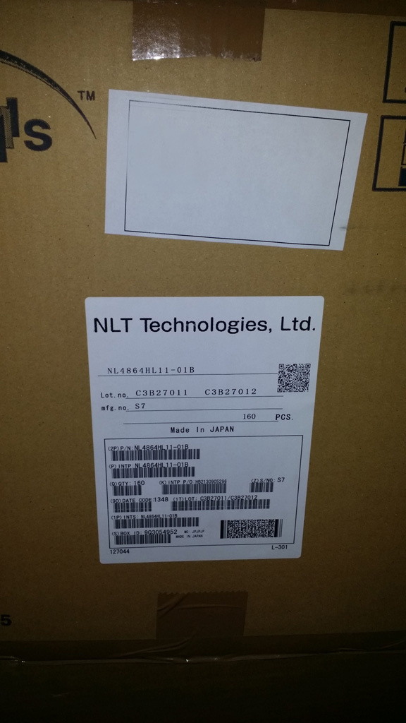 """Nl4864hl11-01b Nlt 3.5"""" 480X640 TFT LCD Module with Touch Screen for Pdas"""