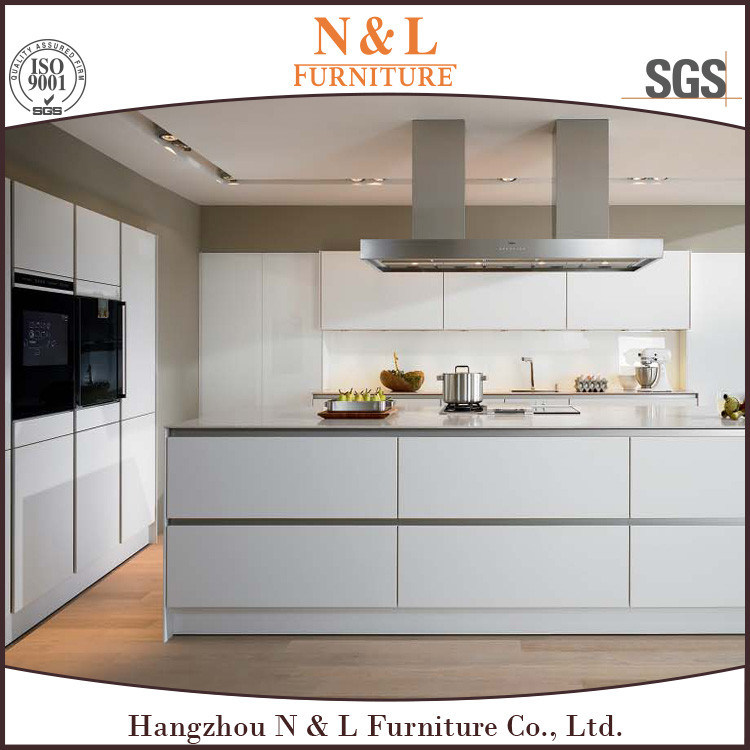 Gray Color High Gloss Lacquer Kitchen Cabinet Design