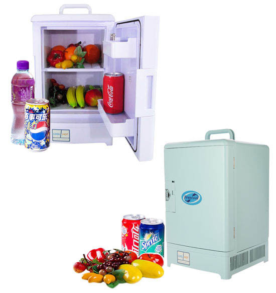Electronic Mini Fridge 15liter DC12V, AC100-240V in Both Cooling and Warming Function
