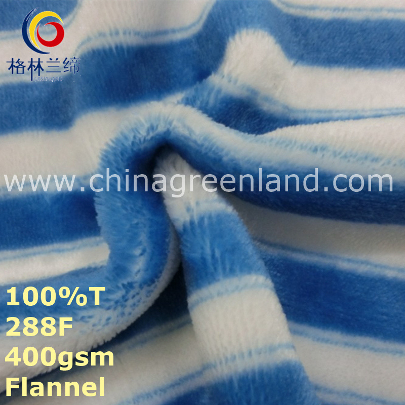 Stripe Printed 100%Polyester Fabric for Pajamas Garment Textile (GLLML247)