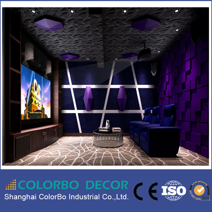 Fireproof B1 Polyester Fiber Acoustic Panel for The Cinema