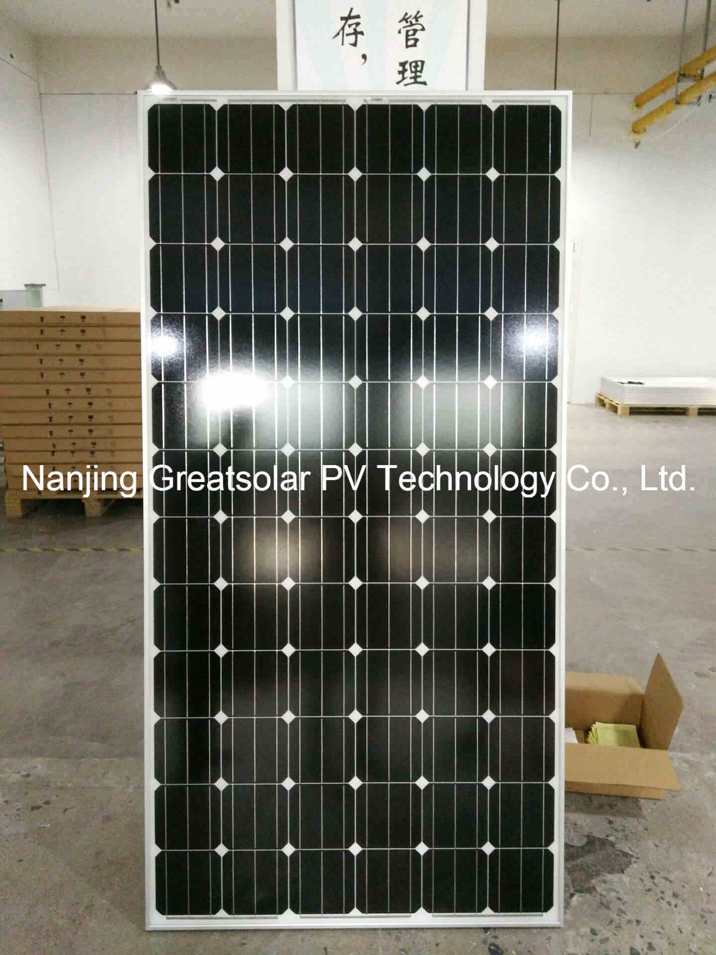 High Efficiency Mono Solar Panel 300W-345W