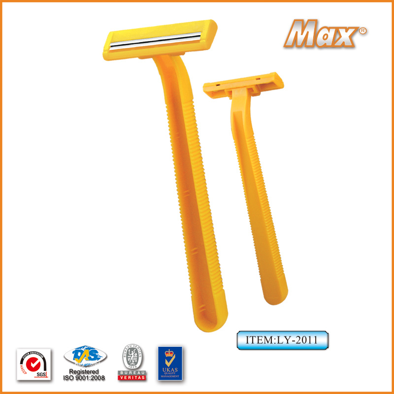 Platinum Coated Stainless Steel Twin Blade Disposable Razor (LY-2011)
