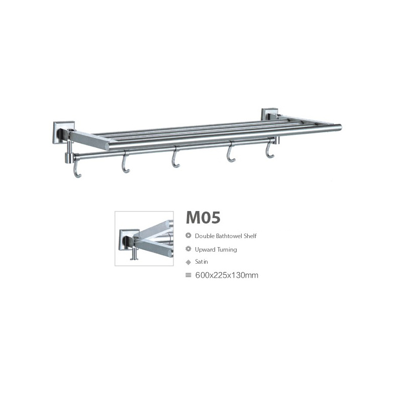 Upward Turning Stainless Steel Bathroom Sanitary Ware Towel Rack (M05)
