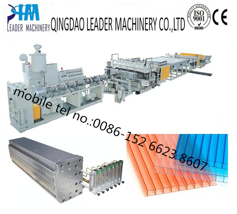 2100mm Width PC Hollow Sheet Hollow Grid Sheet Extrusion Line