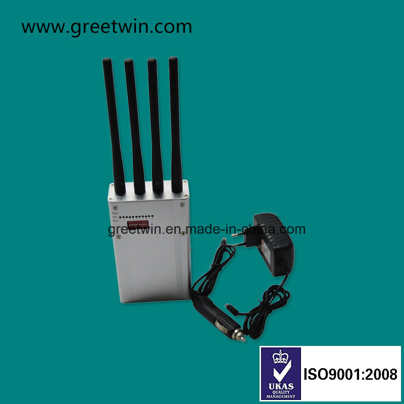 8 Frequency Band Portable Mobile Phone Signal Jammer with 4 Antennas (GW-JN8DGN)