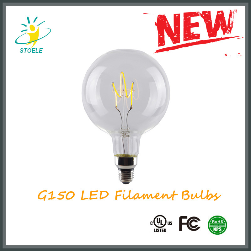 G150 E40 Decorative LED Bulb Soft Filament LED Light Bulb