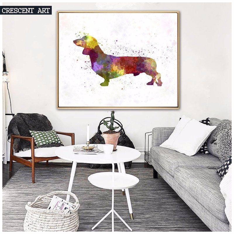Wall Art Canvas Print of Cartoon Dogs