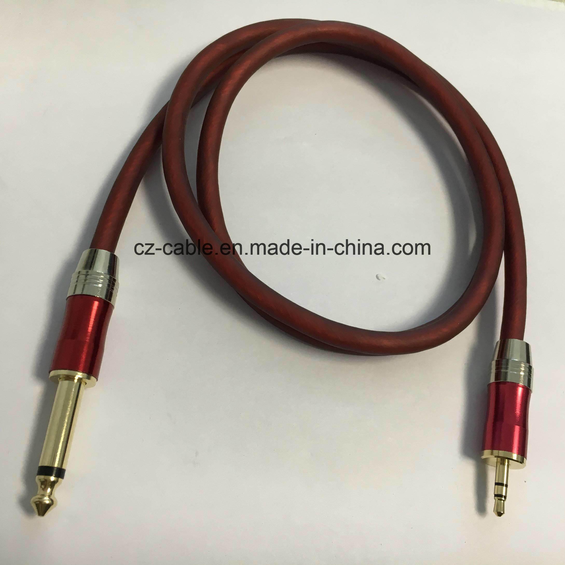 3.5mm Stereo Plug to 6.35mm Mono Plug Phone Cable