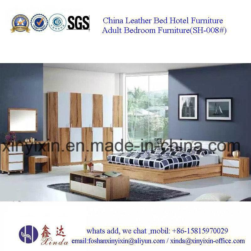 Foshan Factory Wooden Bed Modern Bedroom Furniture Sets (SH-002#)
