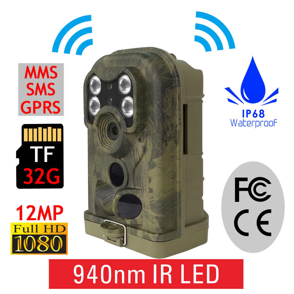 12MP Night Vision Wireless MMS HD Hunting Trail Digital Cameras