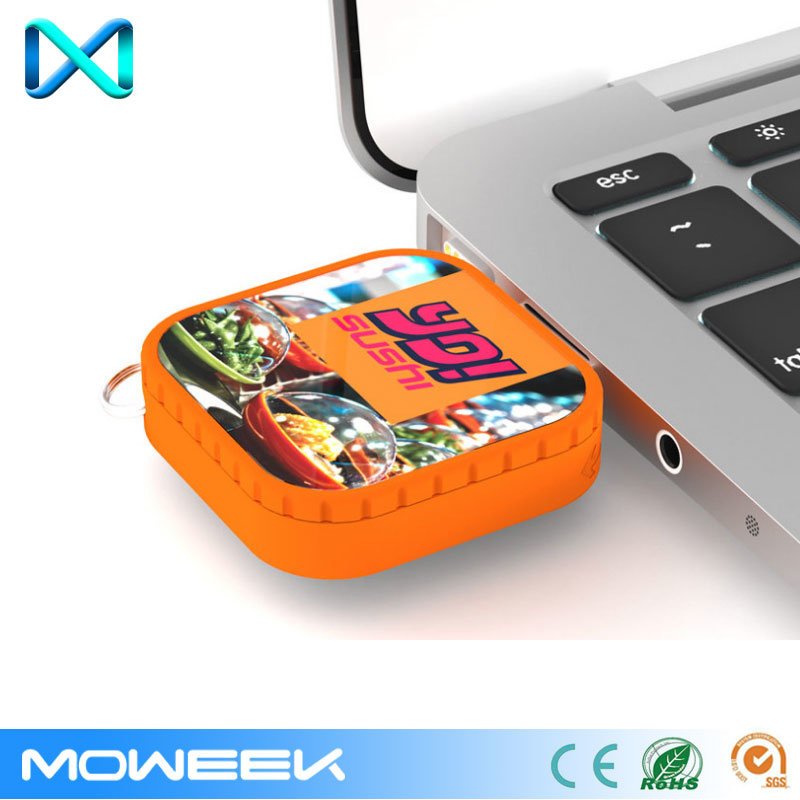 Wholesale Square Custom Retractable USB Memory Flash Drive
